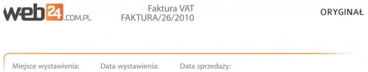 Faktury VAT w PDF (bez podpisu elektronicznego) wysyłane e-mailem