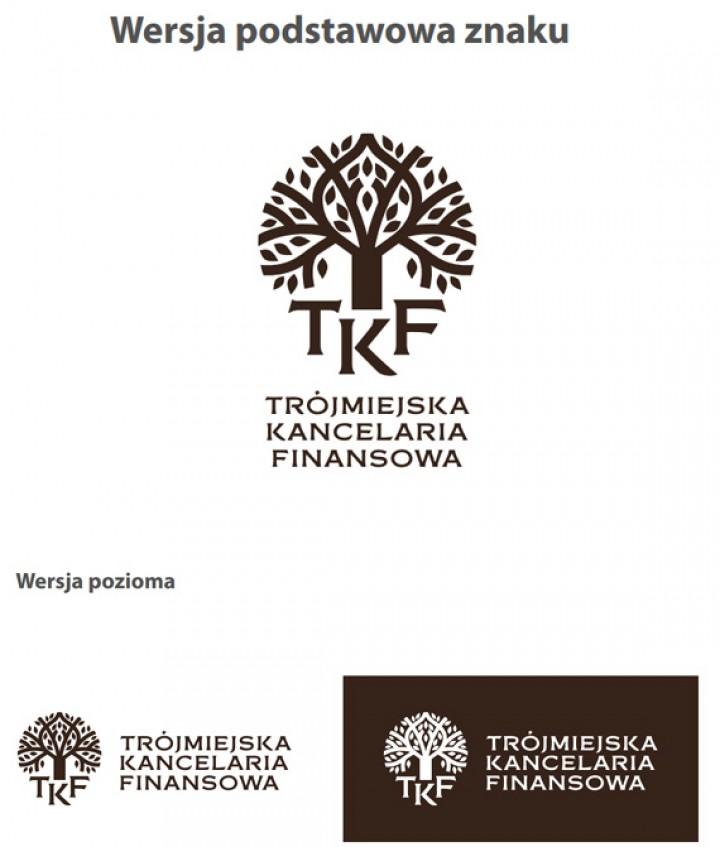 Projekt logotypu Trójmiejskiej Kancelarii Finansowej – produkcja Web24