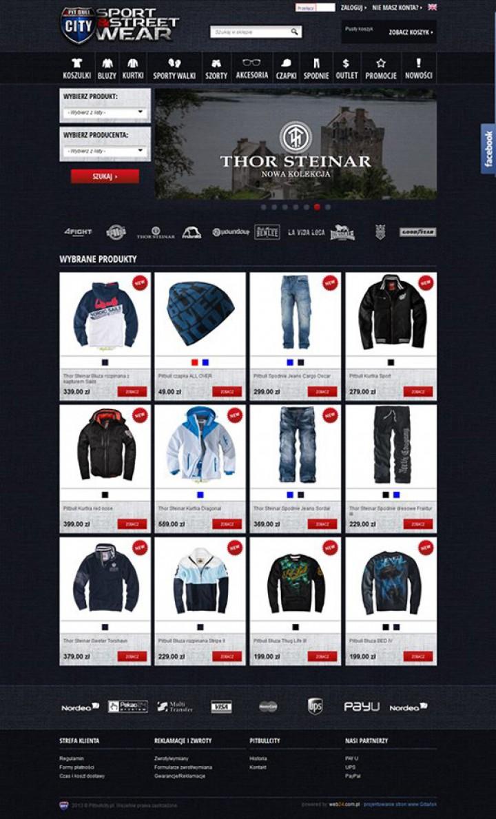 Nowy sklep internetowy pitbullcity.pl ma już miesiąc – realizacja Web24